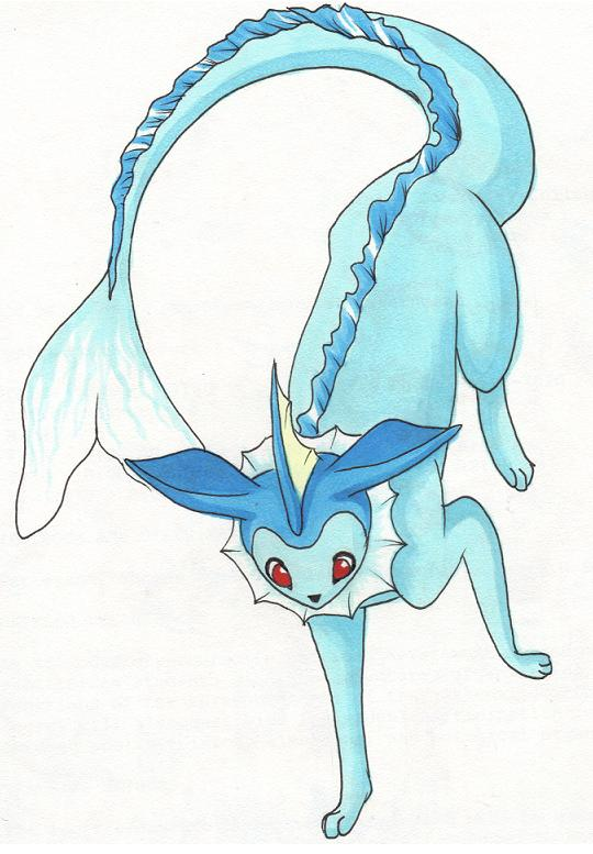 Colored pencil Vaporeon